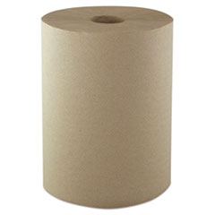 "Morcon Paper Hardwound Roll Towels, 1-Ply, 10"" x 800 ft, Kraft, 6 Rolls/Carton"