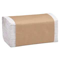 Marcal PRO™ 100% Recycled Folded Paper Towels, 1-Ply, 8.62 x 10 1/4, White, 334/PK, 12PK/CT