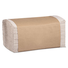 Marcal PRO™ 100% Recycled Folded Paper Towels, 1-Ply, 8.62 x 10 1/4, Natural, 334/PK,12PK/CT