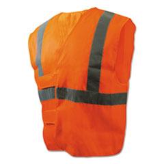 Boardwalk® Class 2 Safety Vests, Orange/Silver, Standard