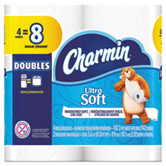 Charmin® Ultra Soft Bathroom Tissue, Septic Safe, 2-Ply, White, 4 x 3.92, 142 Sheets/Roll, 4 Rolls/Pack, 12 Packs/Carton