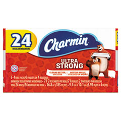 Charmin® Ultra Strong Bathroom Tissue, Septic Safe, 2-Ply, White, 4 x 3.92, 71 Sheets/Roll, 24 Rolls/Pack