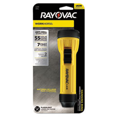 Rayovac® Industrial LED Flashlight, 2D, Yellow/Black