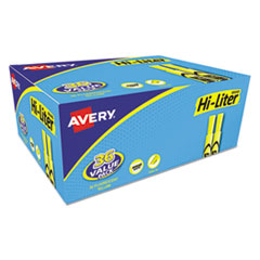 Avery® HI-LITER Desk-Style Highlighters, Chisel Tip, Fluorescent Yellow, 36/Box