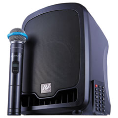 AmpliVox® Bluetooth Wireless Portable Media Player PA System, 36W, Black
