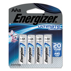 Ultimate Lithium AA Batteries, 1.5V, 8/Pack