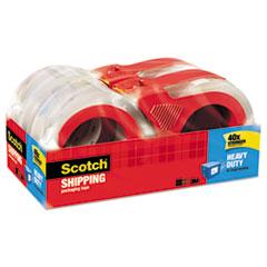 "Scotch® 3850 Heavy-Duty Packaging Tape, 1.88"" x 54.6yds, 3"" Core, Clear, 4/Pack"