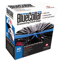 BlueCollar Drawstring, Linear Low Density Trash Bags