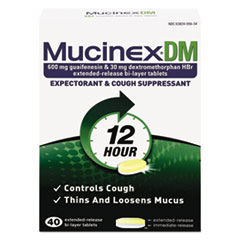 Mucinex® DM Expectorant and Cough Suppressant, 40 Tablets/Box