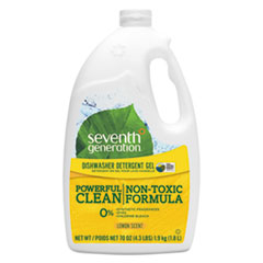 Seventh Generation® Natural Automatic Dishwasher Gel, Lemon, Jumbo 70 oz Bottle