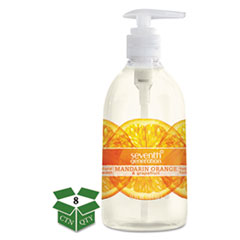 Natural Hand Wash, Mandarin Orange & Grapefruit, 12 oz Pump Bottle, 8/Carton