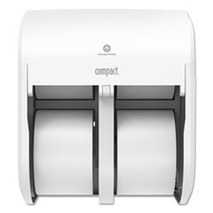 Georgia Pacific® Professional Compact Quad Vertical 4-Roll Coreless Tissue Dispenser, 12.06 x 8 x 14.44, White