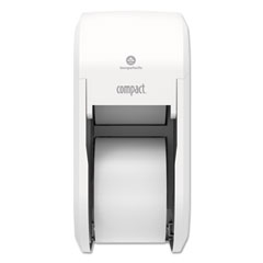 Georgia Pacific® Professional Compact Vertical 2-Roll Coreless Tissue Dispenser, 14.06 x 6.69 x 8.19, White