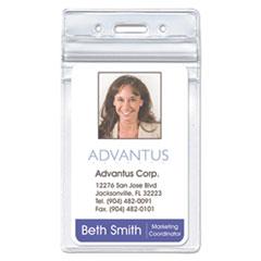 Advantus Resealable ID Badge Holders