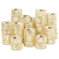 """3750 Commercial Grade Packaging Tape, 3"""" Core, 1.88"""" x 54.6 yds, Clear, 48/Pack"""