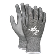 MCR™ Safety Memphis Cut Pro 92728PU Glove, Black/White/Gray, Medium, Dozen