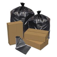 "Pitt Plastics Can Liner, 16 gal, 0.4 mil, 32"" x 24"", Gray, 500/Carton"