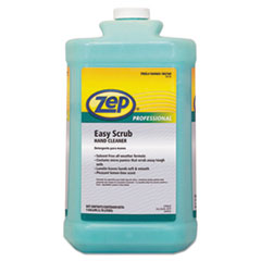 Zep Professional® Industrial Hand Cleaner, Easy Scrub, Lemon, 1 gal Bottle with Pump, 4/Carton