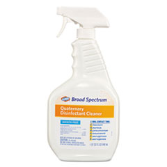 Clorox® Broad Spectrum Quaternary Disinfectant Cleaner, 32oz Spray Bottle, 9/Carton