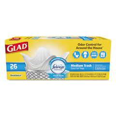 Glad® OdorShield® Medium Quick-Tie® Trash Bags