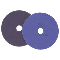 "Scotch-Brite™ Diamond Floor Pads, Burnish/Buff, 27"" Diameter, Purple, 5/Carton"