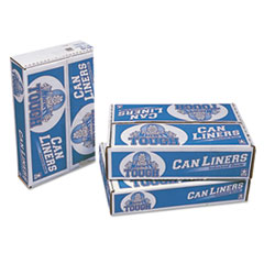 "Pitt Plastics Linear Low Density Can Liners, 60 gal, 0.75 mil, 38"" x 58"", White, 100/Carton"