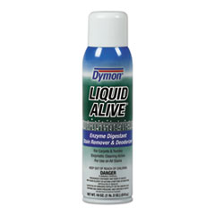 Dymon® LIQUID ALIVE Carpet Cleaner/Deodorizer, 20 oz Aerosol Spray, 12/Carton