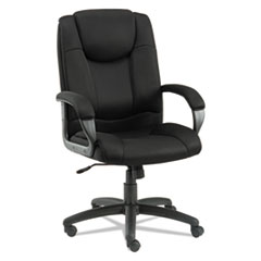 Alera® Alera Logan Series Mesh High-Back Swivel/Tilt Chair, Supports up to 275 lbs, Black Seat/Black Back, Black Base
