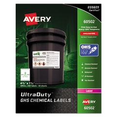 GHS Chemical Waterproof & UV Resistant Laser Labels, 4 3/4 x 7 3/4, 100/Box