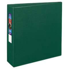 """Heavy-Duty Non-View Binder with DuraHinge and Locking One Touch EZD Rings, 3 Rings, 3"""" Capacity, 11 x 8.5, Green"""