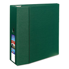 "Heavy-Duty Non-View Binder with DuraHinge, Locking One Touch EZD Rings and Thumb Notch, 3 Rings, 5"" Capacity, 11 x 8.5, Green"