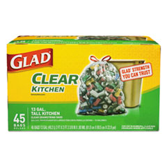 Glad® Recycling Tall Kitchen Drawstring Trash Bags
