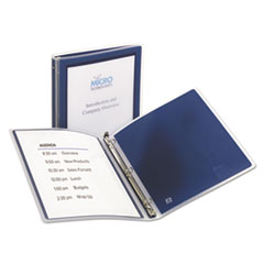 """AVE15766 - Flexi-View Binder w/Round Rings, 11 x 8 1/2, 1/2"""" Cap, Navy Blue"""