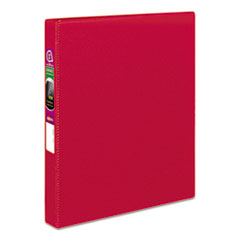"Avery® Durable Binder with Slant Rings, 11 x 8 1/2, 1"", Red"