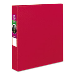 "Avery® Durable Binder with Slant Rings, 11 x 8 1/2, 1 1/2"", Red"