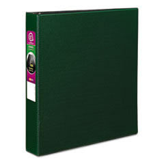 "Avery® Durable Binder with Slant Rings, 11 x 8 1/2, 1 1/2"", Green"