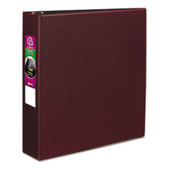 "Durable Non-View Binder with DuraHinge and Slant Rings, 3 Rings, 2"" Capacity, 11 x 8.5, Burgundy"