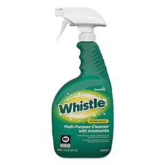 Diversey™ Whistle Professional Multi-Purpose Cleaner With Ammonia, Fresh, 32 oz, 8/Carton