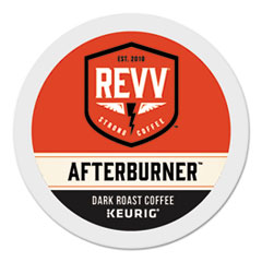 revv® AFTERBURNER K-Cup, Dark Roast, K-Cup, 24/Box