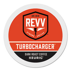 revv® TURBOCHARGER K-Cup, Dark Roast, K-Cup, 24/Box