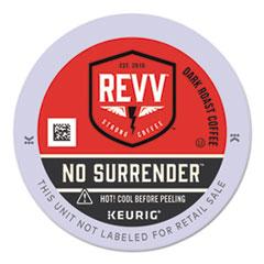 revv® NO SURRENDER K-Cup, Dark Roast, K-Cup, 24/Box