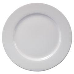 """Office Settings Chef's Table Fine Porcelain Round Dinnerware, Dinner Plate, 10"""" dia, White, 8/BX"""