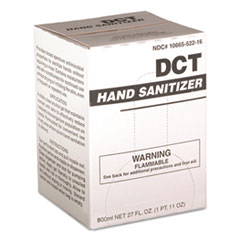 DCT Hand Sanitizer, 800 mL Refill Bag, 6/Carton