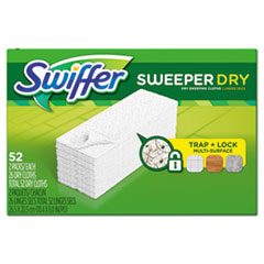 "Swiffer® Dry Refill Cloths, 10 5/8"" x 8"", White, 208/Carton"