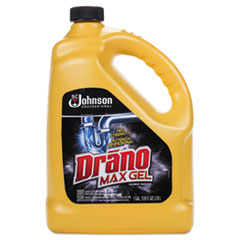 Drano® Max Gel Clog Remover, Bleach Scent, 128 oz Bottle, 4/Carton
