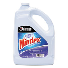 Windex® Non-Ammoniated Glass/Multi Surface Cleaner, Pleasant Scent, 128 oz Bottle, 4/CT