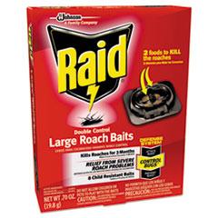 Raid® Roach Baits, 0.7 oz, Box, 6/Carton