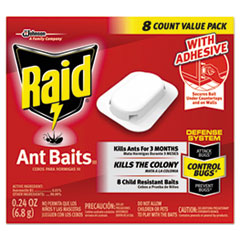 Raid® Ant Baits, 0.24 oz, 8/Box, 12 Boxes/Carton
