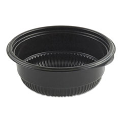 "Anchor Packaging MicroRaves Incredi-Bowl Base, 8 oz, 4.75"" dia x 1.75""h, Black, 500/Carton"