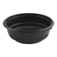 "Anchor Packaging MicroRaves Incredi-Bowl Base, 12 oz, 5.75"" dia x 2.02""h, Black, 250/Carton"